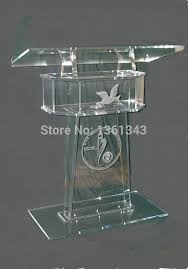 podium style reception desk acrylic crystal fashion promotion the reception desk the speakers