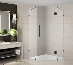 Neo Shower Door Aston Neoscape 42 X 42 X 72 Completely Frameless Neo Angle