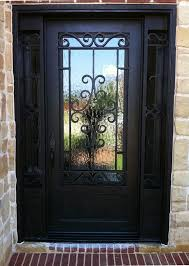 metal front doors with glass 21 best wrought iron single doors images on pinterest single