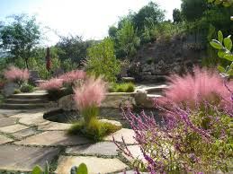 ornamental grass garden ideas landscape mediterranean with
