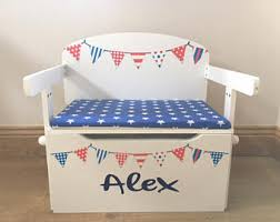 Toy Bench Cushion Personalized Toy Box Etsy