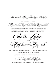wording for wedding invitation wedding invitation wording from and groom cloveranddot