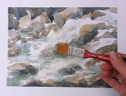 how to paint moving water in watercolor youtube