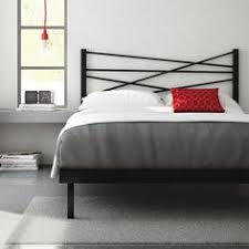Steel Headboards For Beds Amisco Crosston Metal Bed With Asymmetrical Appeal For The
