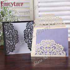 Wedding Card Invitations Aliexpress Com Buy Laser Cut Wedding Invitations Sets Wedding