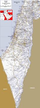 map in road detailed map of israel road map israel map