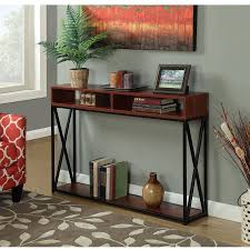 convenience concepts console table convenience concepts tucson deluxe 2 tier console table multiple