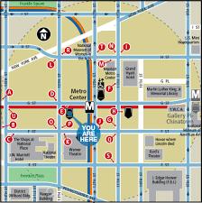 dc metro rail map metro center station washington dc