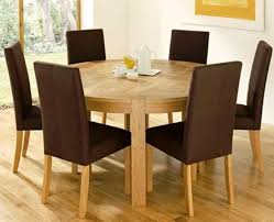 Dining Table And Fabric Chairs 10 Admirable Round Dining Tables For Dining Room Rilane