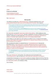 Letter Of Termination From Employer by 10 Employee Warning Letters Free Word Pdf Excel Format