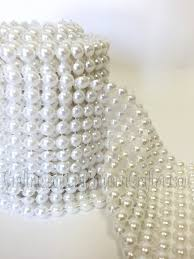 pearl vase fillers ivory pearl 8mm mesh wrap roll table runner prom party