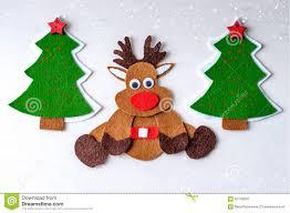 greeting card handmade christmas rudolph reindeer from felt with