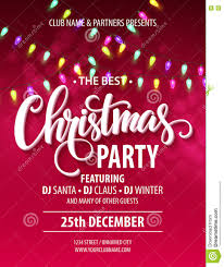 merry christmas party poster vector illustration stock vector