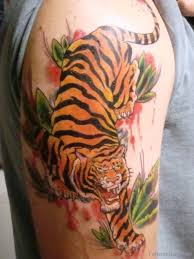 collection of 25 right half sleeve tiger tattoos