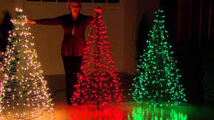 lighted christmas tree pre lit 5 fold flat outdoor christmas tree by lori greiner with
