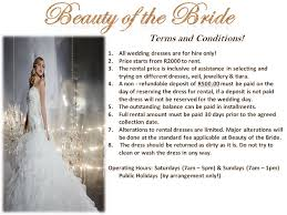 wedding dress terms product range terms and conditions of the