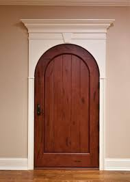 interior door custom single solid wood with medium mahogany