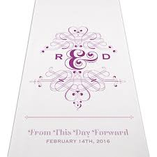 Personalized Aisle Runner Fanciful Monogram Personalized Aisle Runner The Knot Shop