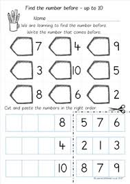 number before to 10 20 and 50 worksheet pack by learn with miss w