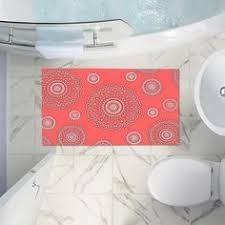 Coral Bath Rugs Interdesign Chevron Rug Orange Teal Bath Rug Beachfront Decor