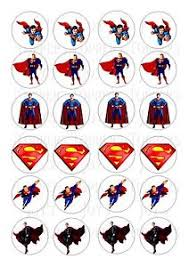 superman cake toppers 24 superman topper icing edible fairy cup cake toppers ebay