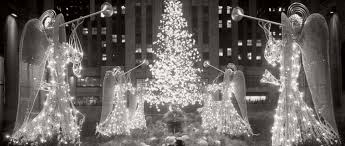 vintage images of rockefeller center christmas tree in new york