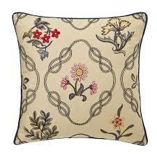 william morris strawberry thief kelmscott trellis cushion indigo