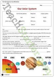 our solar system cloze worksheet teaching resource u2013 teach starter