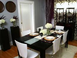 Dining Room Wall Mirrors Pink Tablecloth Square Wall Mirrors White Purple Candle Plates