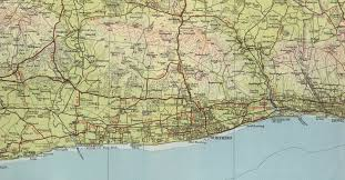 Sussex England Map by Worthing Map