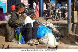 Seeking Hyderabad Hyderabadindianovember 11indian Senior Home Less Poor Stock Photo