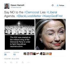 Democrat Memes - north carolina gop chair tweets memes linking hillary clinton to kkk