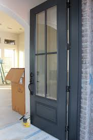 dark painted front door bm wrought iron timeless paper home