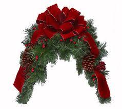 amazon com deep red holiday mailbox swag christmas mailbox swag