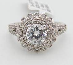 engagement rings flower design halo engagement ring flower design setting mounting set in