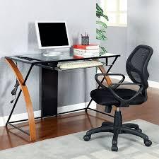computer desk glass metal desks furniture decor showroom