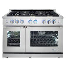 Gas Cooktop Sears Shop Dacor Renaissance 48 In 6 Burner 5 2 Cu Ft 2 8 Cu Ft Self
