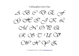 calligraphy letter charts calligraphy letters org