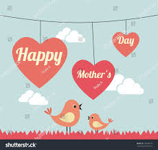 Mother S Day Designs Mothers Day Design Over Landscape Background Stock Vector