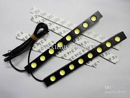 12 volt led lights waterproof drl 8x led light strip 12v auto led lights led lens waterproof