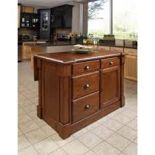 kitchen island home depot home styles aspen rustic cherry kitchen island with seating 5520