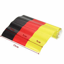 Germany Flag Colors German Germany Flag Stripe Sticker Car Hood Body Decal For Vw Audi