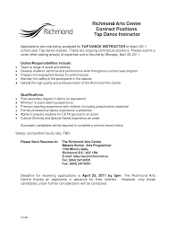 Sample Resume Objectives For Preschool Teachers by Dance Teacher Resume Resume For Your Job Application