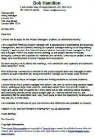 cover letter example for a project manager career tips and