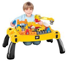 mega bloks first builders table amazon com mega bloks caterpillar table construction site toys games