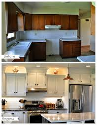 Alabaster White Kitchen Cabinets by Kitchen Before And After Sherwin Williams Alabaster On Cabinets