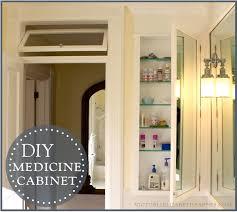 tall recessed medicine cabinet diy bath remodel diy medicine cabinet
