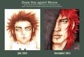 November Meme - redraw it meme july vs november 2013 by moshimoshi253 on deviantart
