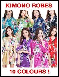 bridesmaid satin robes peacock satin robe bridesmaid vintage robes kimono dressing