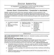Construction Foreman Resume Examples by Construction Resume Template